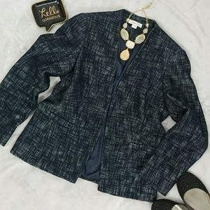 Coldwater Creek Blazers Navy and White size 10